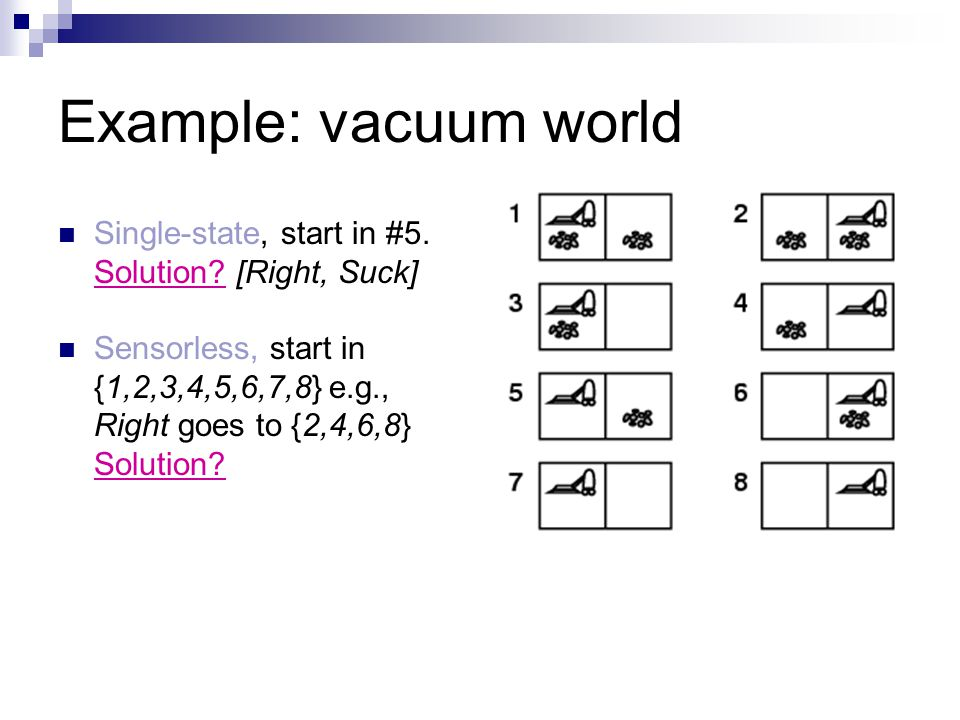Example Vacuum World Single State Start In 5 Solution Right